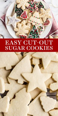 Easy Cut Out Sugar Cookies with Icing features a simple dough that's fun to work with so you can make any festive shaped and decorated cookies you want! The best simple recipe for kids or a cookie exchange or gifting! Shaped Cookies Recipe, Simple Cookie Dough Recipe, Cut Out Cookie Recipe, Sugar Cookie Recipe Easy, Sugar Cookie Icing, Easy Sugar Cookies, Christmas Cookies Kids, Xmas Cookies, Christmas Baking