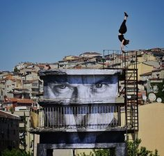 [Kera Leda]: JR in Istanbul! My favorite street artist is in my hometown! Can't wait to see the pieces when I get back.