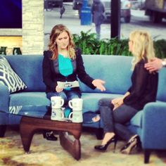 Fun times and live TV with @BTToronto @JennValentyne
