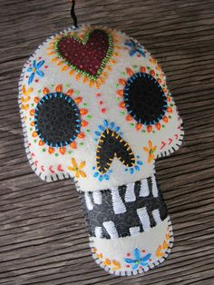 Felt Day of the Dead Embroidered Sugar Skull