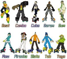 every playable character in jet set radio