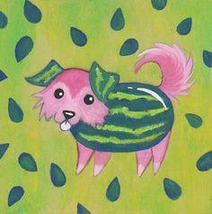 Original Painting - Melon Collie (Melancholy) - by Savannah Mitchell
