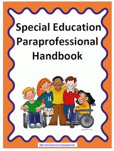 Special Education Paraprofessional Handbook from Miss Allison's class. Great resource - handy for when I update my current classroom handbook. Autism Classroom, School Classroom, Classroom Ideas, Classroom Behavior, Classroom Rules, Classroom Environment, Special Ed Teacher, Special Kids, Teaching Special Education