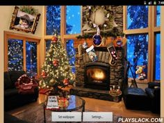 Christmas Fireplace  Android App - playslack.com , Christmas fireplace - joyous feeling for your telephone or tablet PC. pretty live wallpaper will transport joyous sky and user-friendly settings will make your desktop a distinctive one.