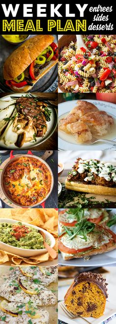 Weekly Meal Plan Week 90 - 10 great bloggers bringing you a full week of recipes including dinner, sides dishes, and desserts!