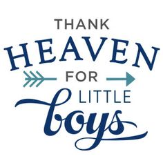 Silhouette Design Store - View Design thank heaven little boys phrase