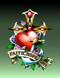 faith hope charity tattoo designs   Image by New Vision Technologies Inc from Getty Images)