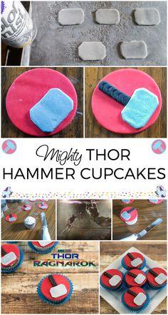 e9d9a653de8fd Marvel Cupcakes - Thor Ragnorok Inspired Cupcake Recipe Marvel Cupcakes