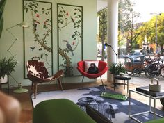 Snijder&CO: Our hand-painted wallpaper panels at Depot Rotterd...