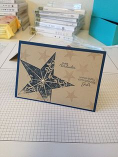 Stampin Up Christmas Card Weihnachtskarte in Midnight Muse Simply Stars & Christmas Star