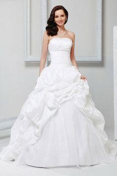 Abiti da Sposa Ball Gown Lunghezza A Terra Taffettà Corpo a rettangolo Strapless