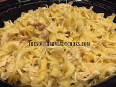 This simple 4 ingredient recipe for crock pot chicken and noodles has great reviews. Easy recipe anyone can make and enjoy in the crock pot.