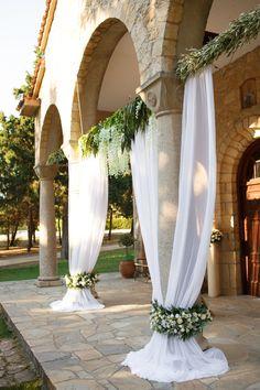 Outdoor Wedding Decorations, Ceremony Decorations, Wedding Events, Wedding Ceremony, Mediterranean Wedding, Orthodox Wedding, Dream Wedding, Wedding Day, Greece Wedding
