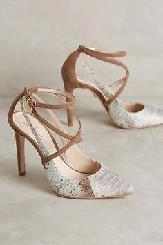 Guilhermina 'Natrix' Multi-textured Leather Heel