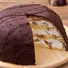 Zuccotto con Crema alla Ricotta e castagne Ricotta, Biscuits, Best Banana Bread, Italian Cooking, Pound Cake, Cheesecake, Nutella, Sweet Treats, Deserts