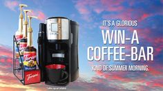 Enter to win one of 24 fantastic TORANI coffee bars, valued at $145 each, to inspire relaxed summer mornings!