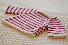 Striped Puerperium Cardigan pattern. ♥