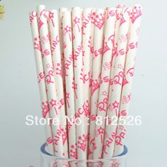 Party  Supplies and wedding supplies princess drinking  paper  Straws   free shipping princess paper straws-in Event & Party Supplies from H...