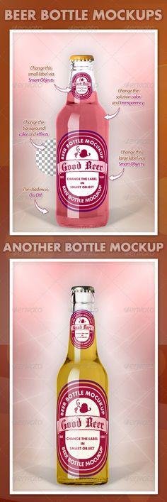 Beer Bottle Mockups V1.0 — Photoshop PSD #photoshop #clear • Available here → https://graphicriver.net/item/beer-bottle-mockups-v10/3421705?ref=pxcr