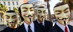 Guy Fawkes worn by protesters in Los Angeles. The original Guy Fawkes was an Englishman who fought for Spain. He is famous for his part in the Gunpowder Plot to blow up the House of Lords in Guy Fawkes Night, Guy Fawkes Mask, Masque Anonymous, Anonymous Maske, V Pour Vendetta, Vendetta Mask, Denial Of Service Attack, Meme Costume, Costume Ideas