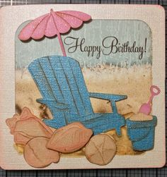cricut life's a beach | Beach Theme Cards – Artiste Cricut Collection and PC Life's A ...