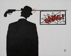 """""""Bang"""" Acrílico 92 x 73 cm 170 €"""