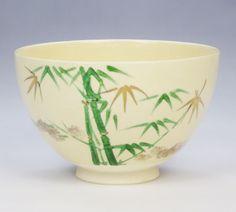 Matcha tea bowl, bamboo forst【茶道具 抹茶碗】仁清茶碗 竹林 緑【楽天市場】