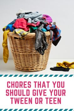 To raise good adults we need to teach them to be responsible. Here are a few chores that you should give your tween or teen to teach them responsibility. Parenting Issues, Parenting Teens, Parenting Advice, Chores For Kids, Activities For Kids, Strong Willed Child, Quotes About Motherhood, Kids Growing Up, Kids House