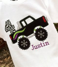 Boys Personalized Appliqued Monster Truck