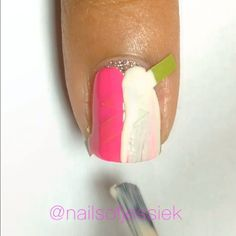 """The people comparing these to foods know what's up!  I'm using lightning bolts from @teismom #nailvinyls.com, China Glaze """"I'm Not Lion"""", a pink Nabi polish, Lime Crime """"Milky Ways"""", and @Glisten and Glow Jill R-C #HKGirlTopCoat. ✨ Song is First Date by Blink 182.  #Padgram"""