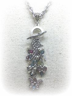 Swarovski Crystal Butterfly Pendant Necklace #976D
