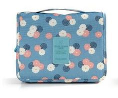 Women's Fashion Designer Print Large-Capacity Multifunctional Convenient Portable Travel Cosmetic Toiletry Case 6 Colors