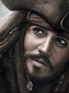 Jack Sparrow ( Digital Painting ) by Isaiah Paul Cabanting, via Behance