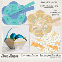DIY Printable Templates: Hexagon Basket by Heather Roselli