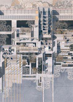 Joanne Chen | Y5 Architecture Program, Architecture Concept Diagram, Architecture Visualization, Chinese Architecture, Architecture Drawings, Landscape Architecture, Architecture Design, Architecture Models, Architecture Diagrams