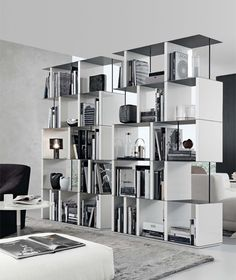 Give a unique design complement to your existing décor by purchasing Jesse Manhattan Bookcase from Belvisi Kitchen and Furniture UK online store. Metal Bookcase, Bookcase Shelves, Shelving, Italian Furniture, Luxury Furniture, Bookshelf Design, Living Room Storage, Home Decor Inspiration, Manhattan