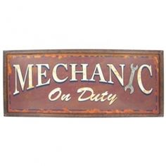 This Mechanic on Duty #TinSign is the perfect for any home, garage or man cave.