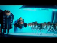 Despicable Me scene dancing boogie robots.  THIS VIDEO BELONGS TO DESPICABLE ME inc