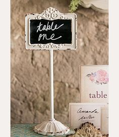 Antique White Blackboard Tabletop Stand for wedding table signange