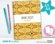 Personalised Notebook (Stan Shapey), handmade stationery - lots of designs to choose by aabecreative on Etsy