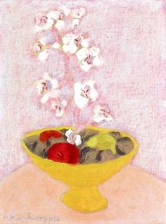 Tender Still Life  (also known as Bowl with Orchids) Milton Avery - 1956