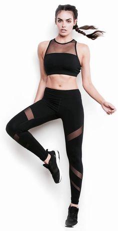 S sports leggings high waist yoga pants - fashion clothes outfit Workout Attire, Workout Wear, Workout Outfits, Fashion Pants, Fashion Outfits, Fashion Clothes, Looks Academia, Women's Sports Leggings, Gym Leggings
