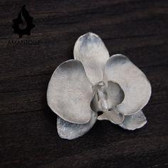 Phalaenopsis, dije en Plata .950  Amantolli, diseño elaborado por Jorge Arzate
