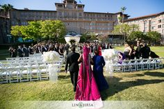 Every bride's moment - walking down the aisle. Learn more about South Asian-friendly venues and get special savings on shaadishop.co    PC: Lin & Jirsa