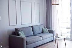 Wypoczynek w salonie - sztukateria na ścianie. - zdjęcie od Agata Paczuska-Bałkowiec - Salon - Styl Skandynawski - Agata Paczuska-Bałkowiec