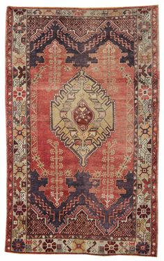 Vintage Turkish Village Rugs Gallery: Vintage Ortakoy Rug, Hand-knotted in Turkey; size: 3 feet 7 inch(es) x 5 feet 7 inch(es)