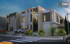 Title: Twin Villa Name: Mahmoud Abdul Aziz Country: Egypt Software: max VRay Photoshop Submitted: February 2015 a Twin villa in Saudi Arabia Archi Design, Facade Design, Exterior Design, Villa Architecture, Islamic Architecture, Building Exterior, Building Facade, Villa Design, Modern House Design