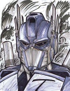 Optimus Prime Marker head sketch by JoeyVazquez