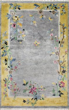 nuLOOM Hand Knotted Darrin Chinese Art Deco Grey