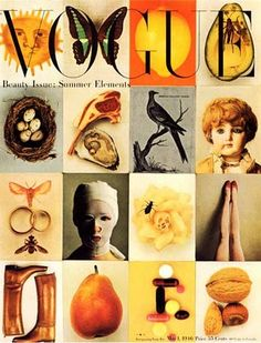 Cover of Vogue, 1946. by Irving Penn